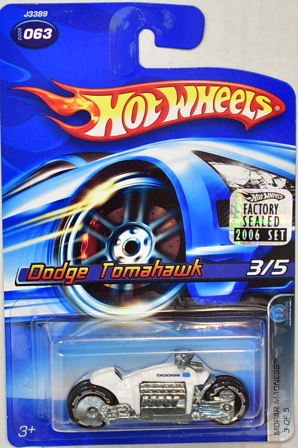 HOT WHEELS 2006 MOPAR MADNESS DODGE TOMAHAWK #063 WHITE FACTORY SEALED