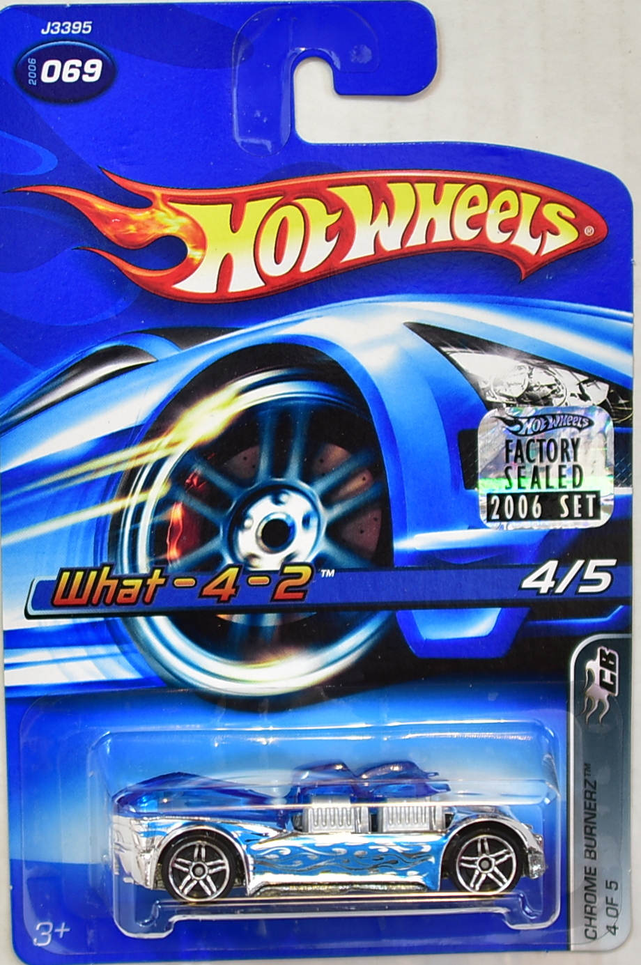 HOT WHEELS 2006 CHROME BURNERZ WHAT-4-2 #069 FACTORY SEALED