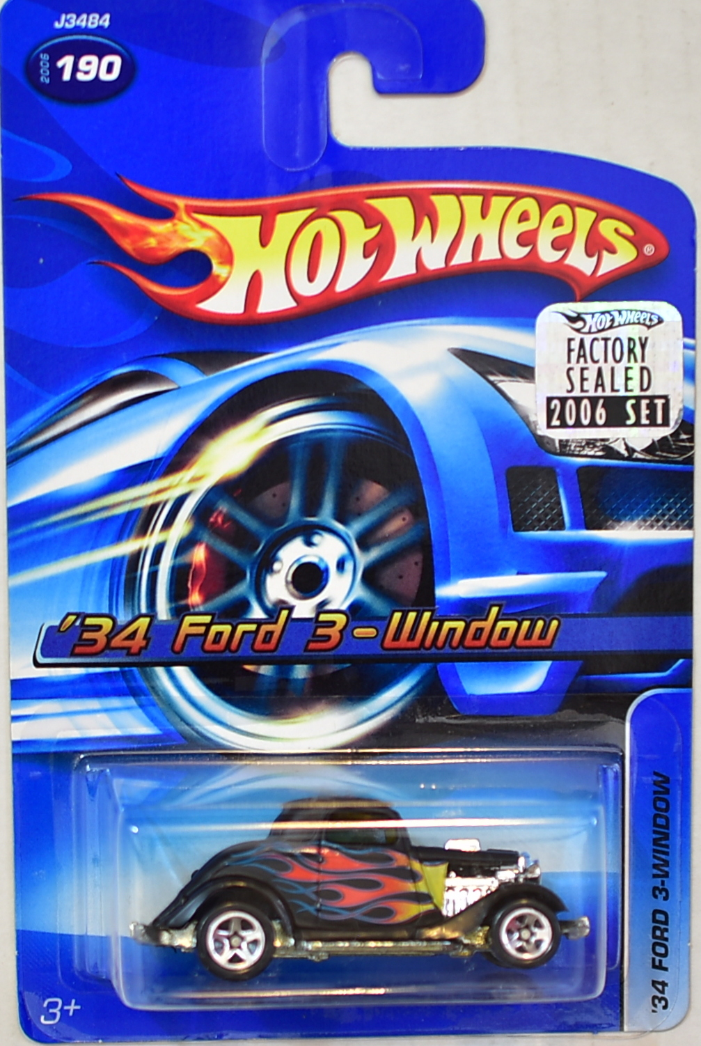 HOT WHEELS 2006 '34 FORD 3-WINDOW #190 FACTORY SEALED