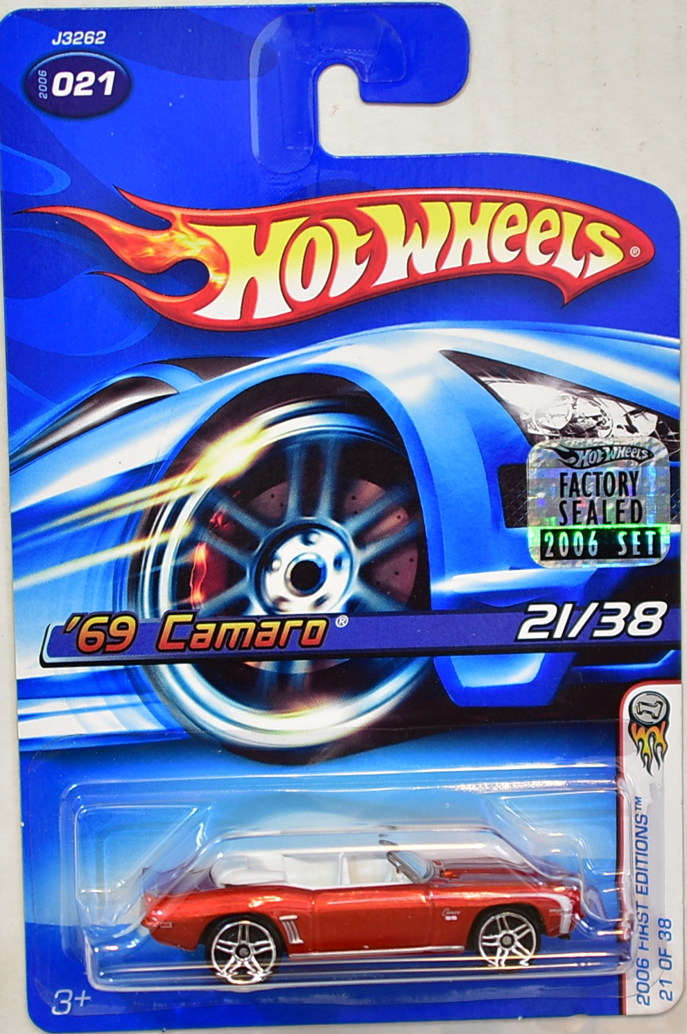 HOT WHEELS 2006 FIRST EDITIONS '69 CAMARO #021 RED FACTORY SEALED