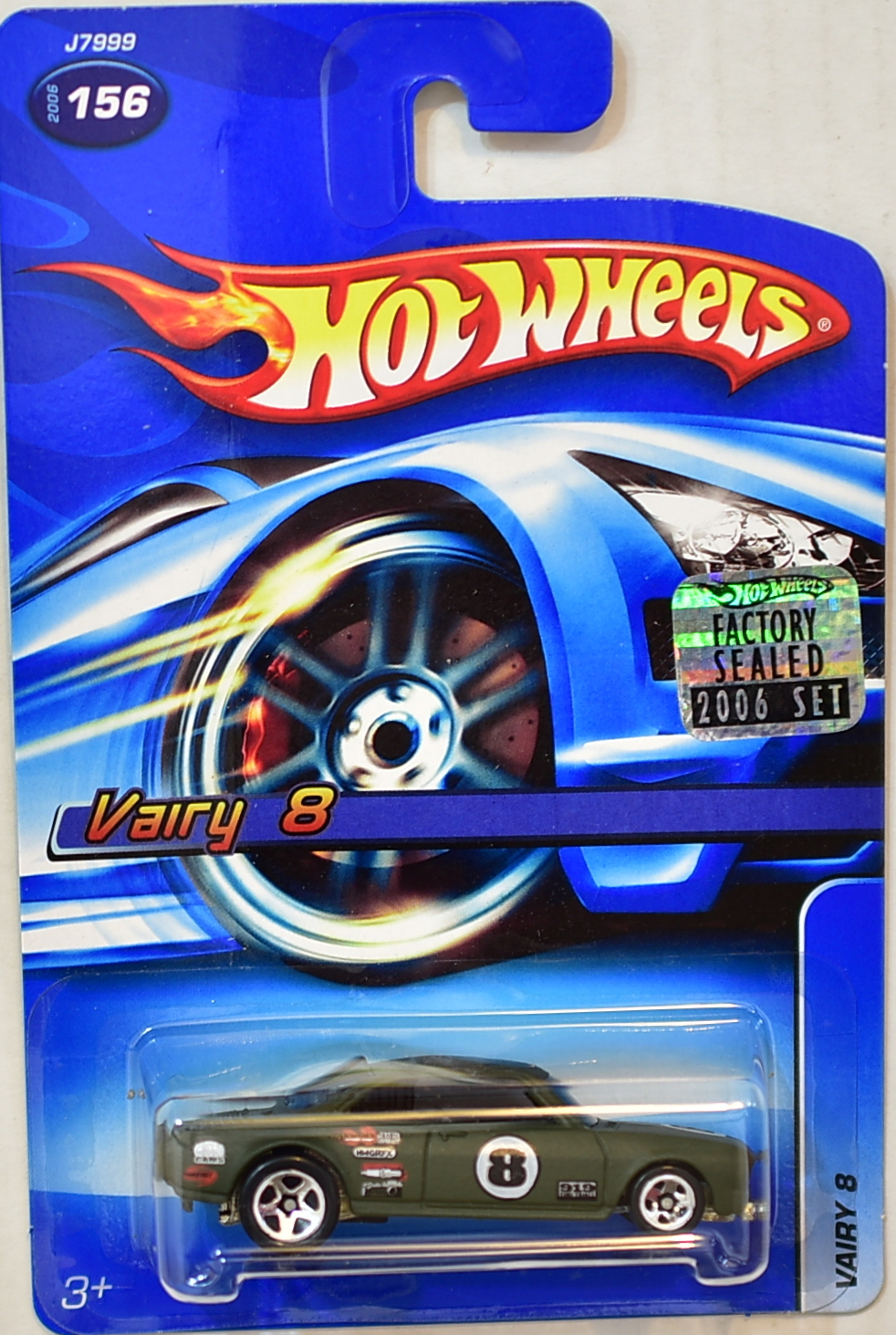 HOT WHEELS 2006 VAIRY 8 #156 FACTORY SEALED