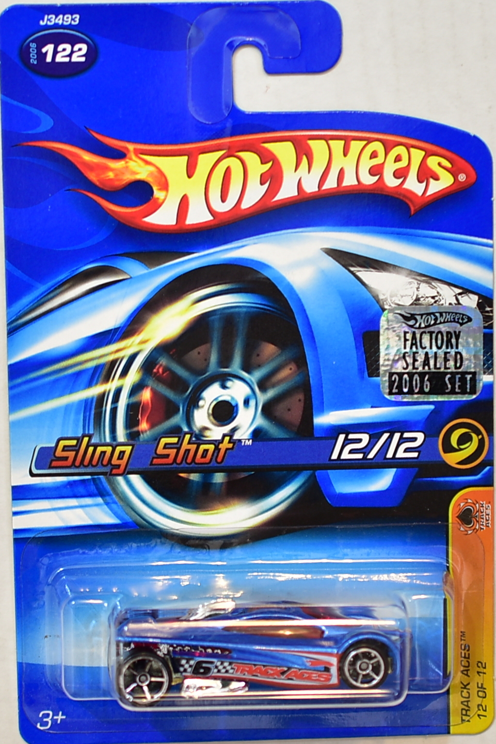 HOT WHEELS 2006 TRACK ACES SLING SHOT #122 BLUE FACTORY SEALED