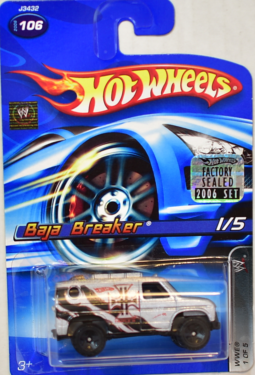 HOT WHEELS 2006 WWE BAJA BREAKER #106 FACTORY SEALED