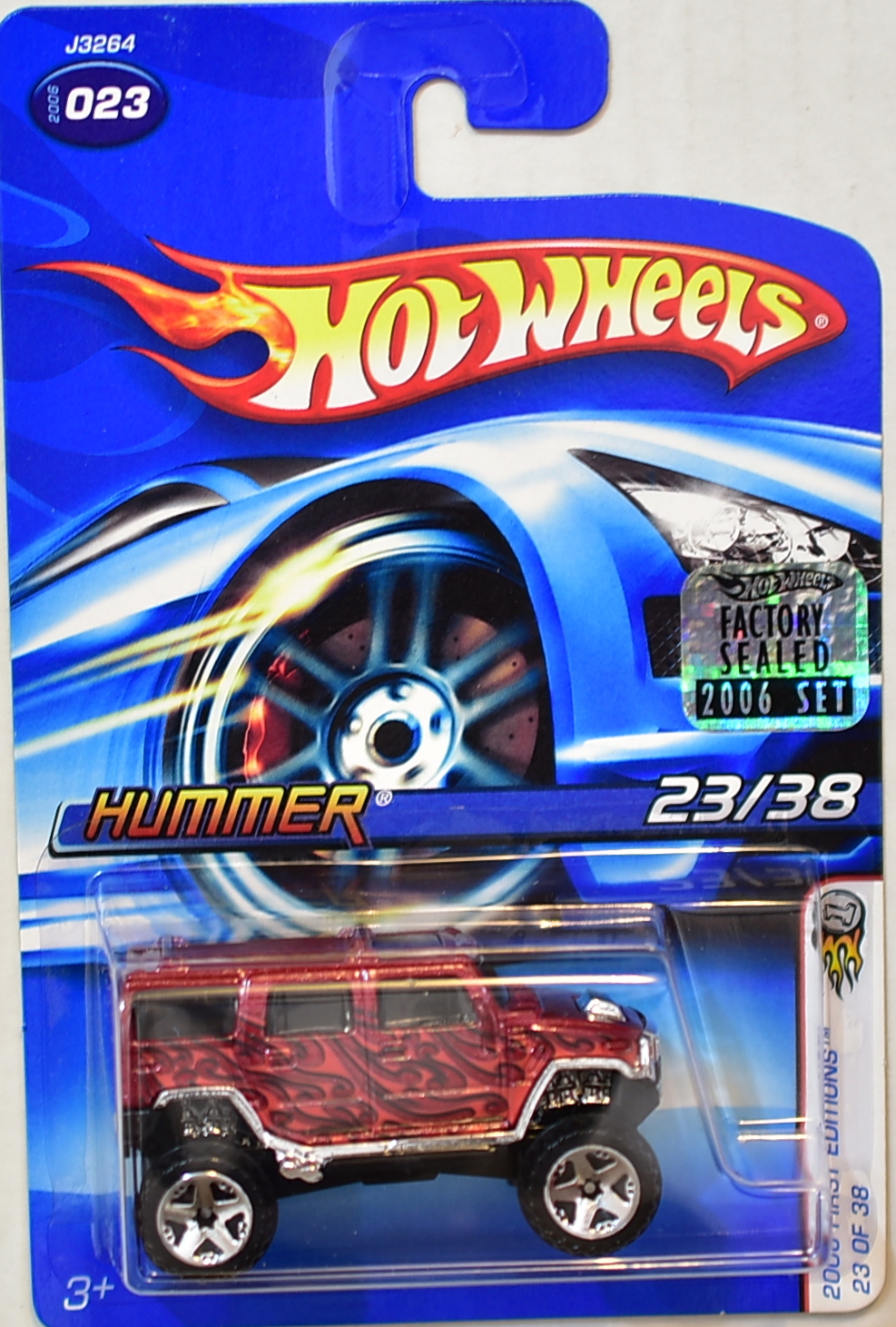 HOT WHEELS 2006 FIRST EDITIONS HUMMER #023 RED FACTORY SEALED