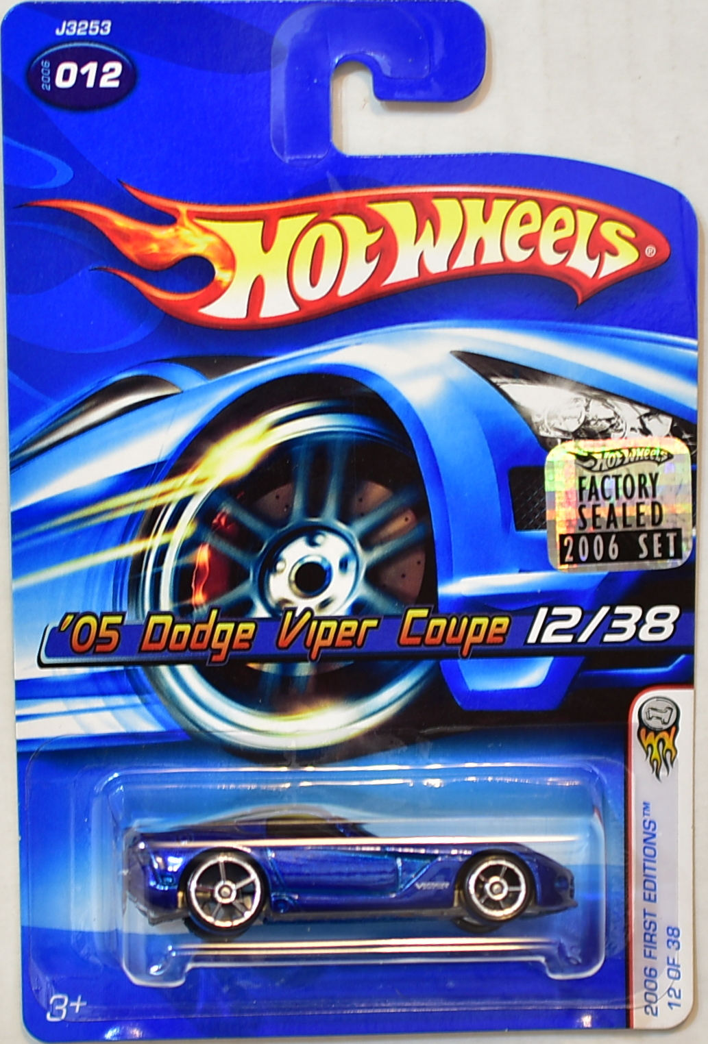 HOT WHEELS 2006 FIRST EDITIONS '05 DODGE VIPER COUPE #012 BLUE FACTORY SEALED