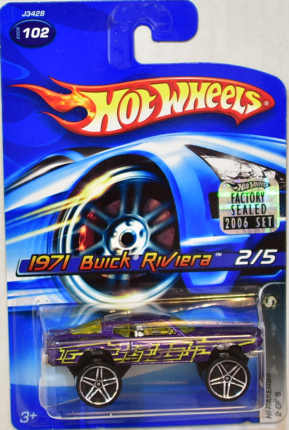 HOT WHEELS 2006 HI-RAKERS 1971 BUICK RIVIERA #102 PURPLE FACTORY SEALED