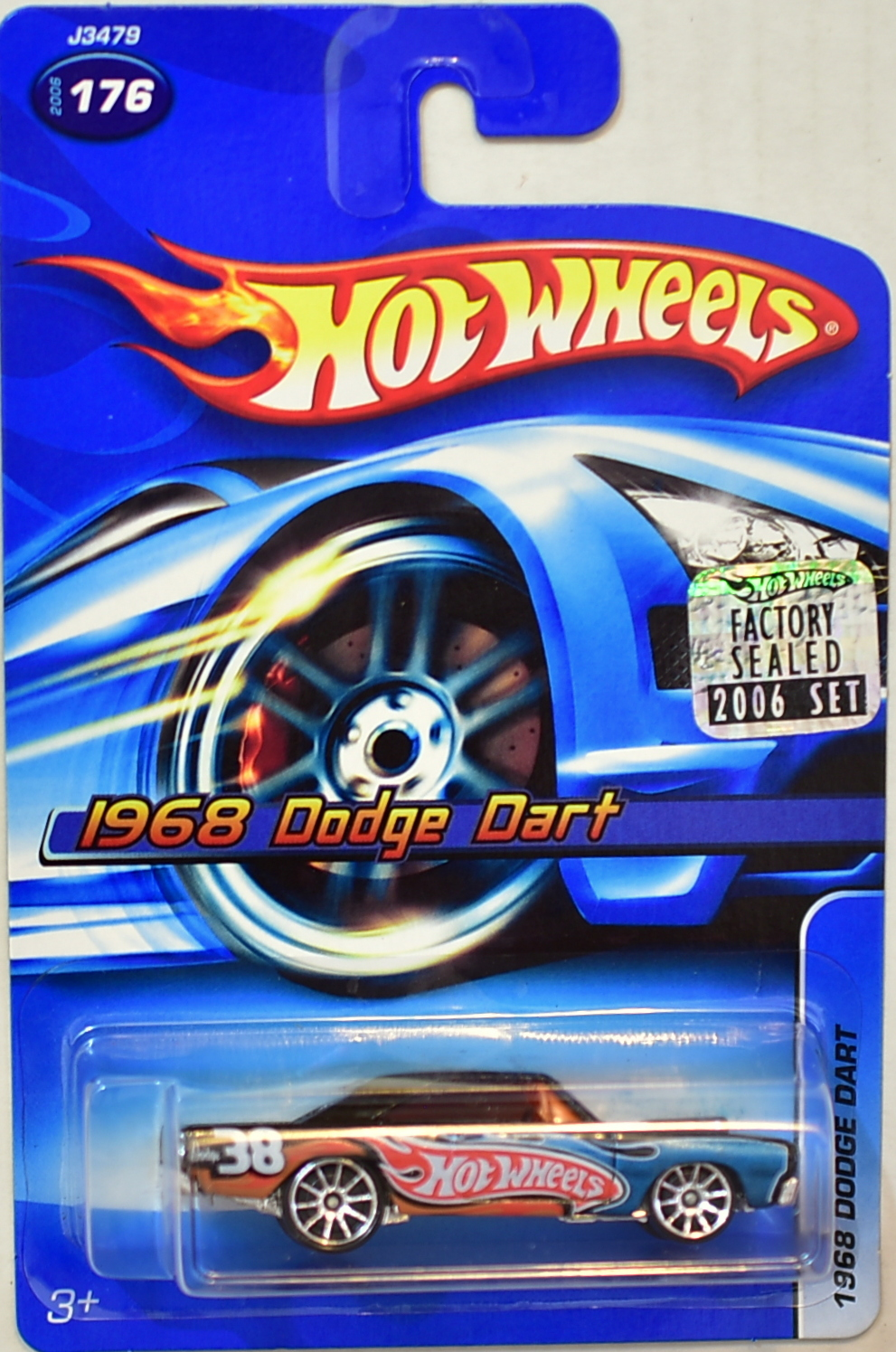HOT WHEELS 2006 1968 DODGE DART #176 FACTORY SEALED