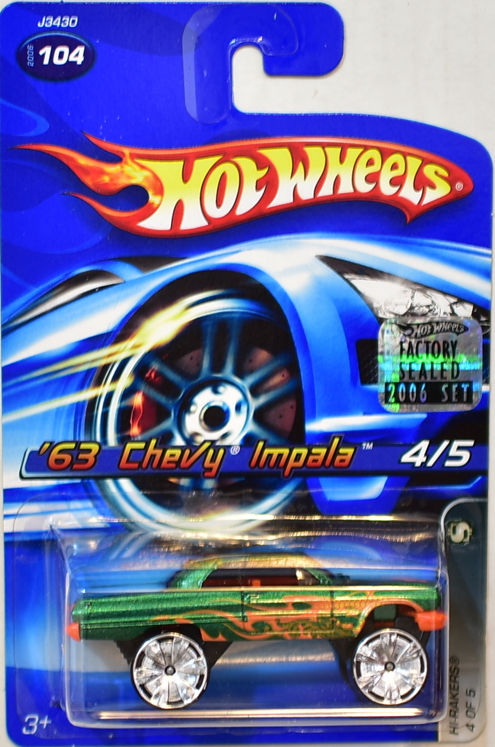 HOT WHEELS 2006 HI-RAKERS '63 CHEVY IMPALA #104 GREEN FACTORY SEALED