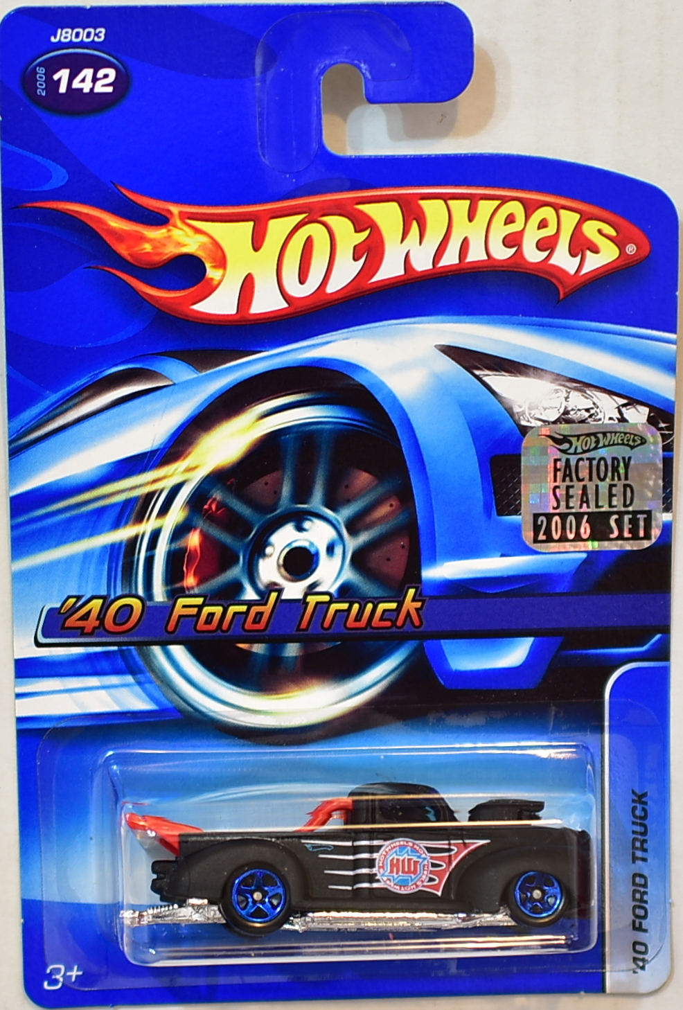 HOT WHEELS 2006 '40 FORD TRUCK #142 BLACK FACTORY SEALED