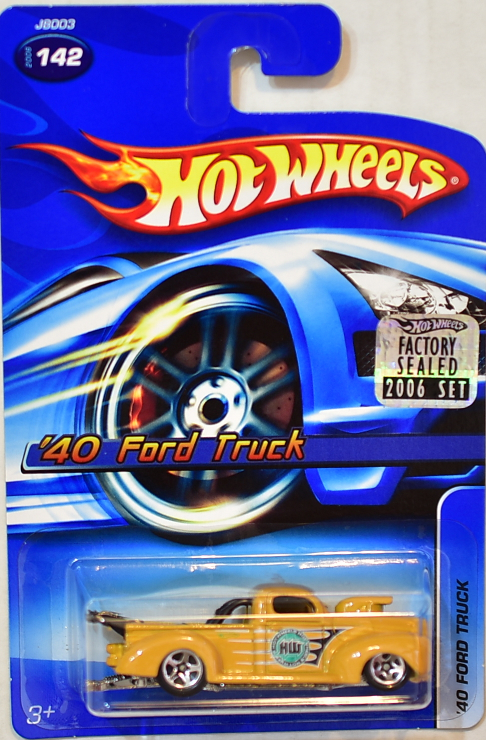 HOT WHEELS 2006 '40 FORD TRUCK #142 YELLOW FACTORY SEALED