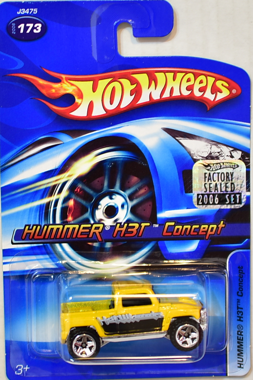HOT WHEELS 2006 HUMMER H3T CONCEPT #173 YELLOW FACTORY SEALED