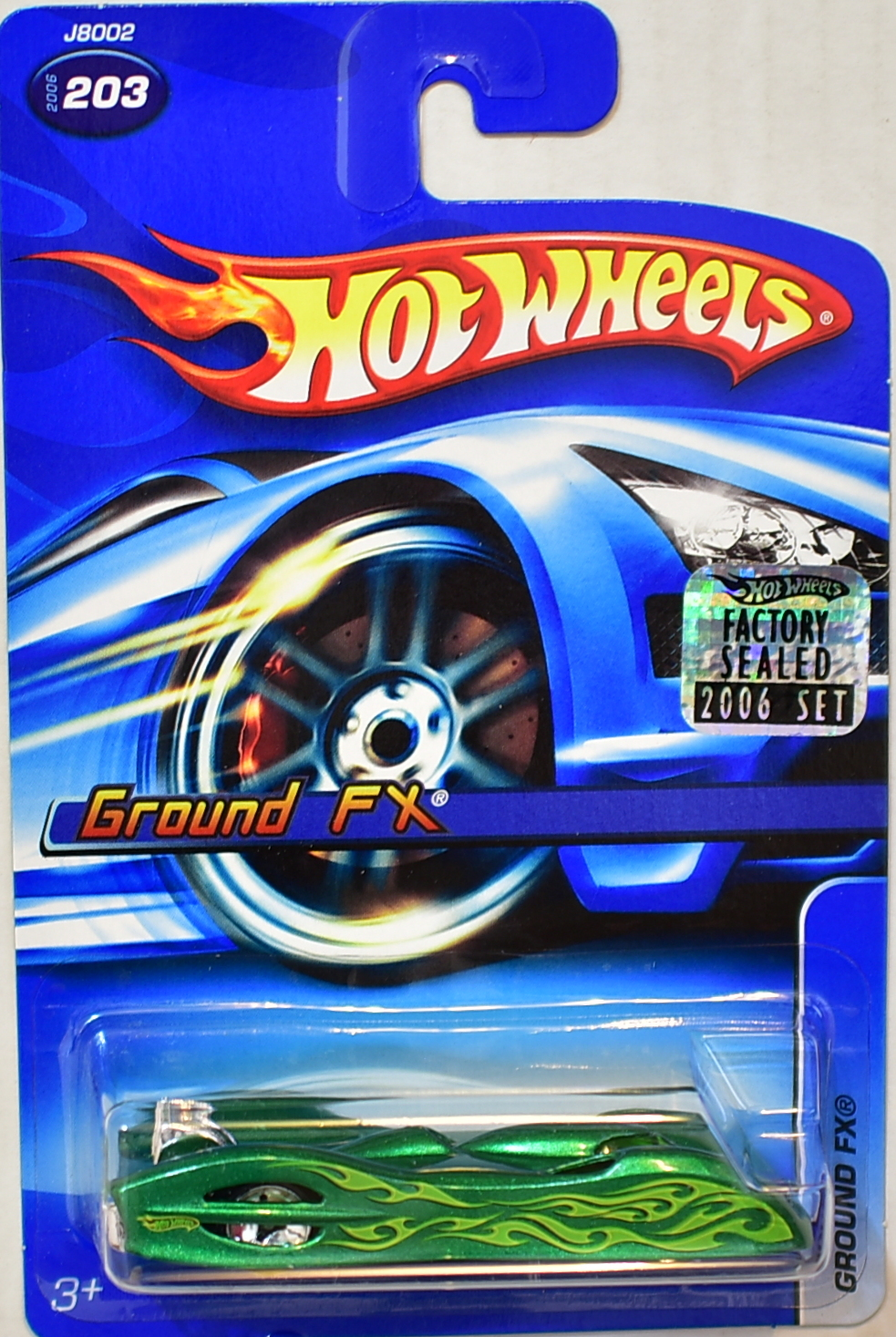 HOT WHEELS 2006 GROUND FX #203 GREEN FACTORY SEALED