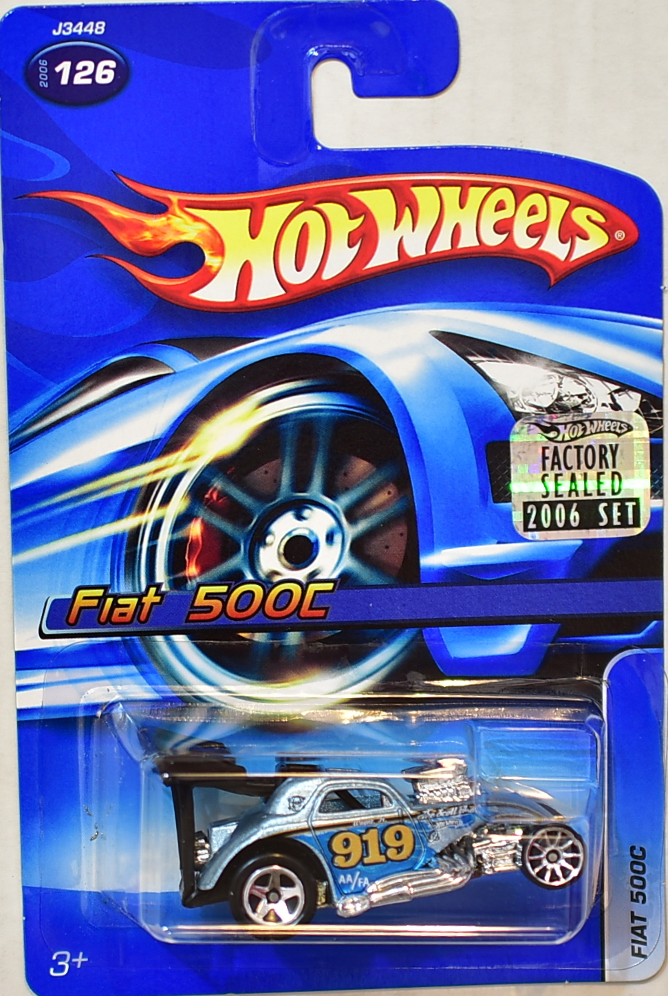 HOT WHEELS 2006 FIAT 500C #126 FACTORY SEALED
