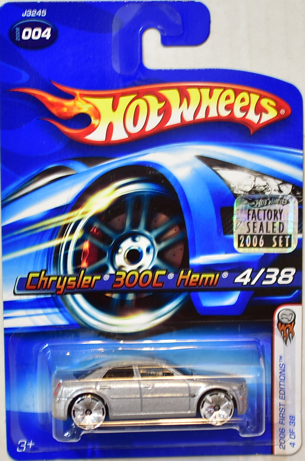 HOT WHEELS 2006 FIRST EDITIONS CHRYSLER 300C HEMI #004 SILVER FACTORY SEALED