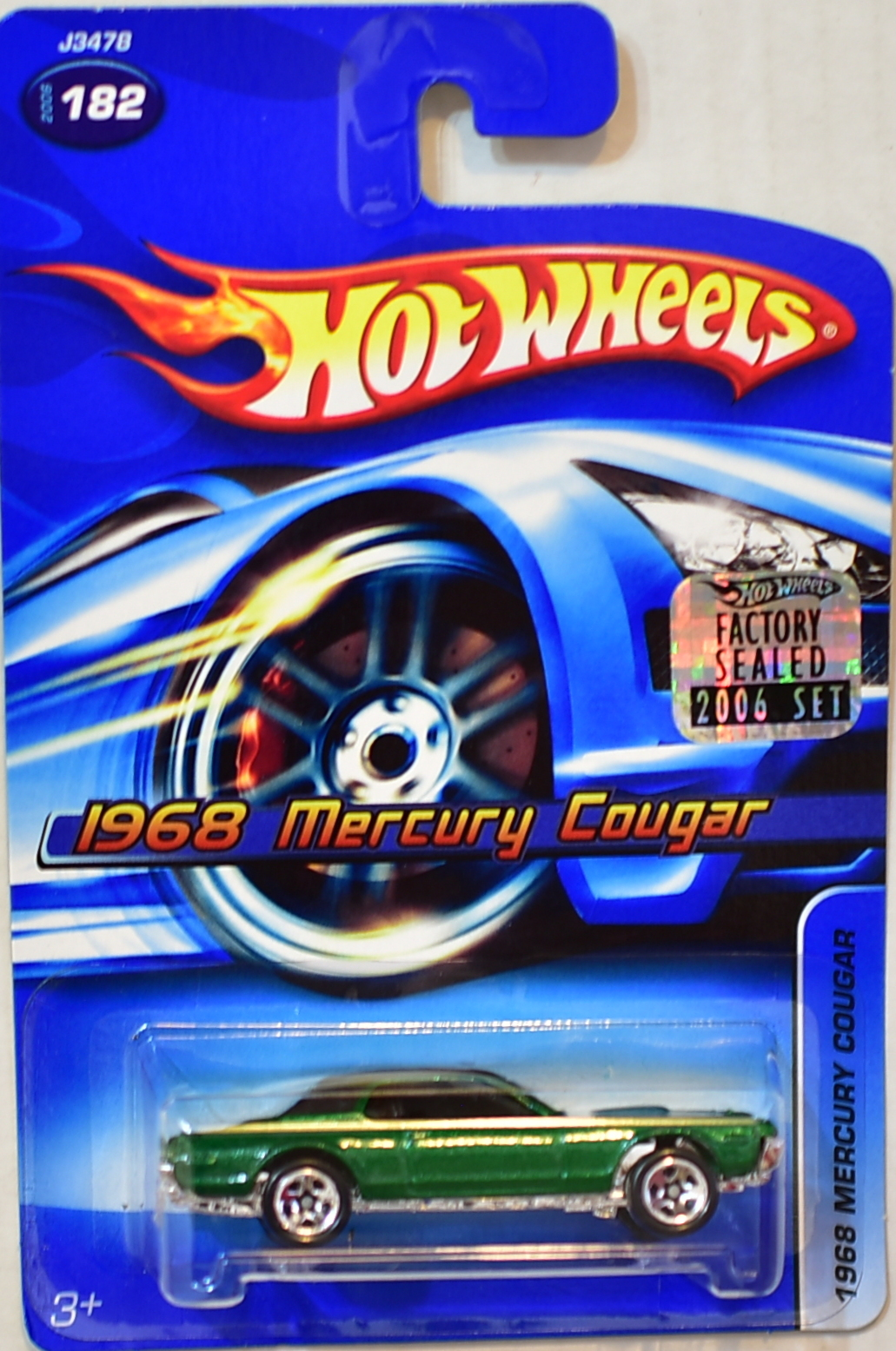 HOT WHEELS 2006 1968 MERCURY COUGAR #182 GREEN FACTORY SEALED