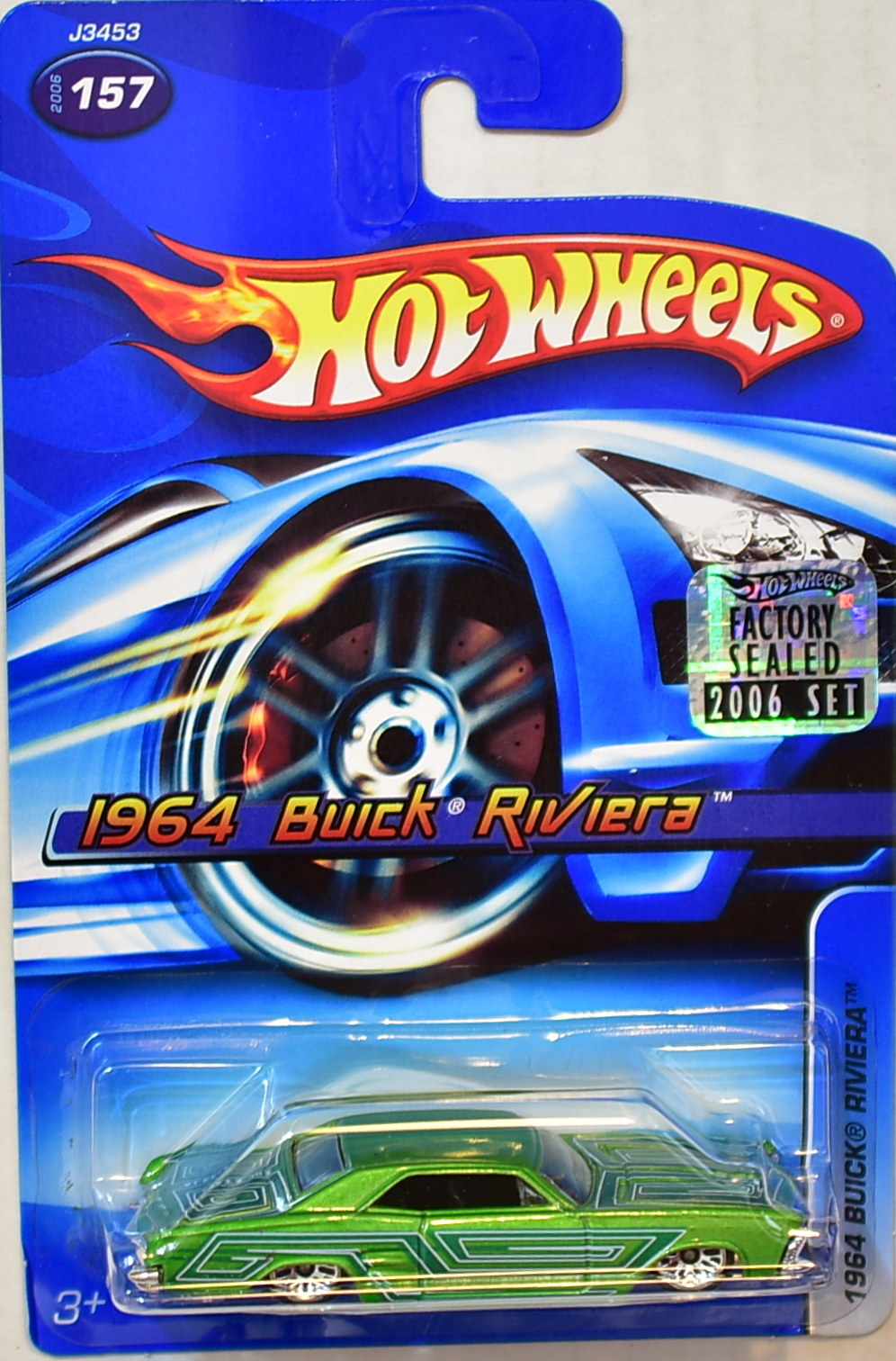 HOT WHEELS 2006 1964 BUICK RIVIERA #157 GREEN FACTORY SEALED
