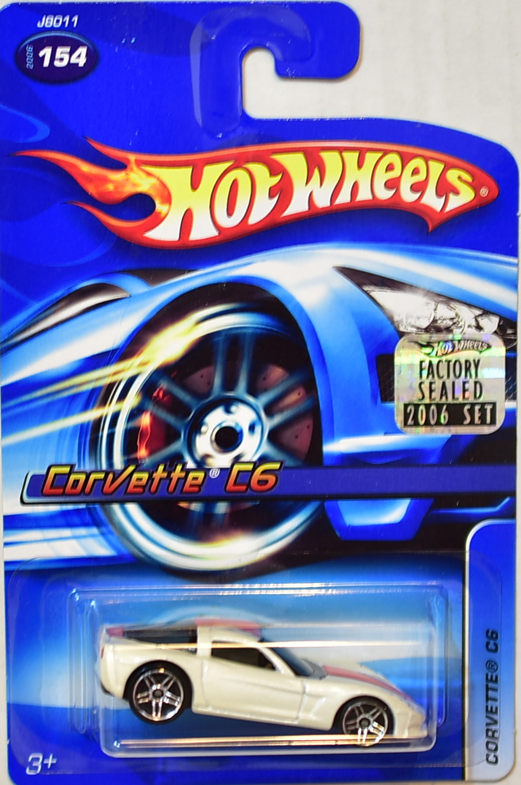HOT WHEELS 2006 CORVETTE C6 #154 WHITE FACTORY SEALED
