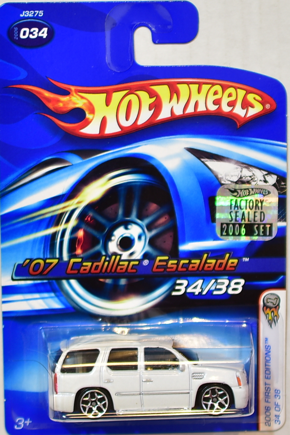 HOT WHEELS 2006 FIRST EDITIONS '07 CADILLAC ESCALADE #034 WHITE FACTORY SEALED