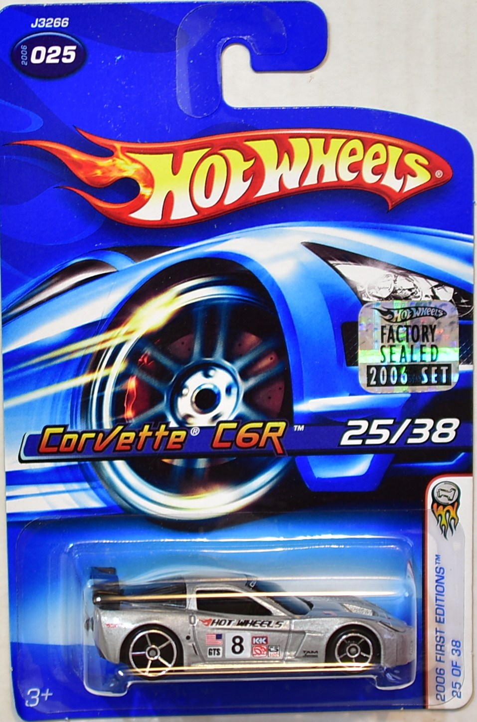 HOT WHEELS 2006 FIRST EDITIONS CORVETTE C6R #025 SILVER FACTORY SEALED