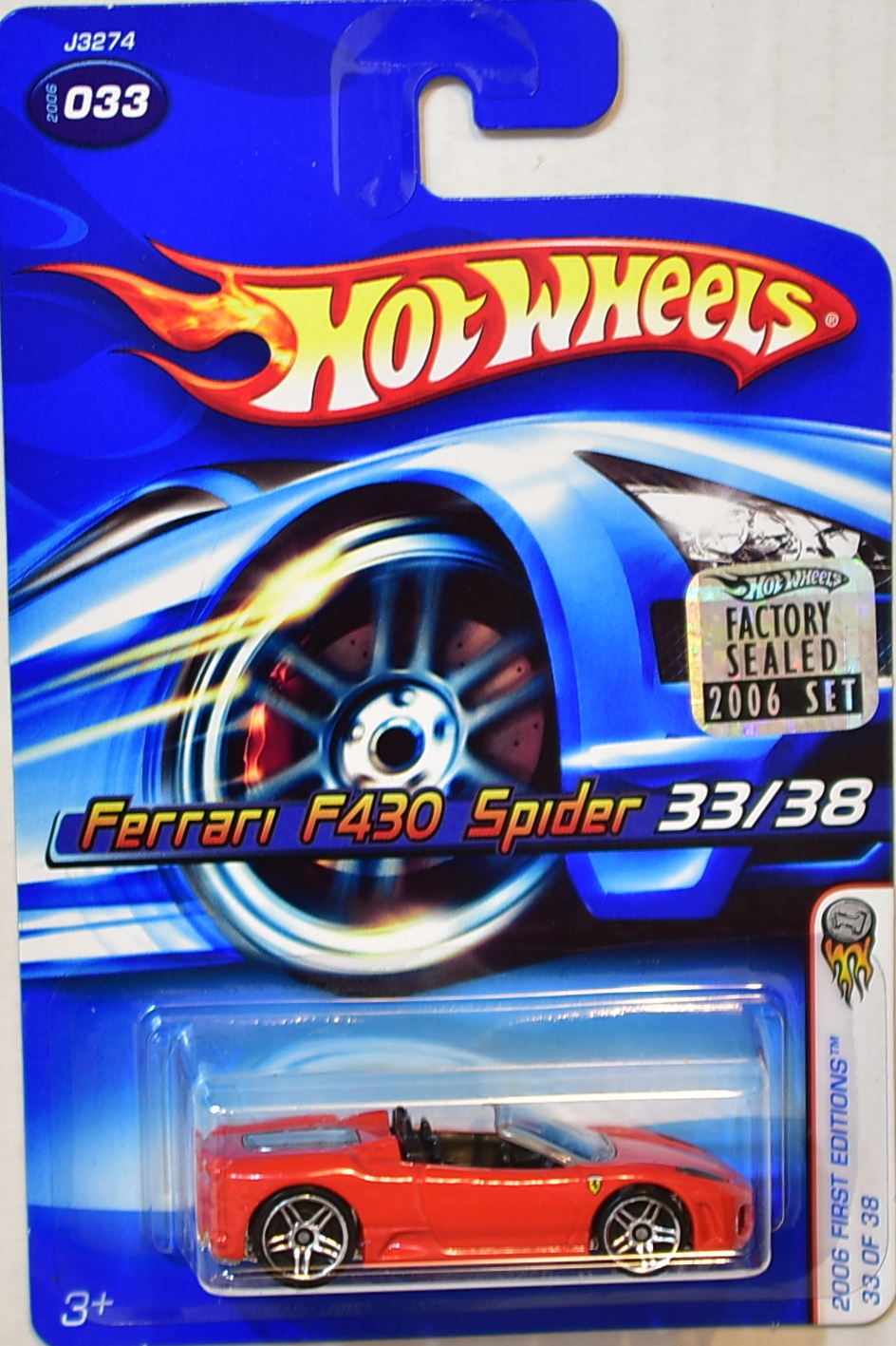 HOT WHEELS 2006 FIRST EDITIONS FERRARI F430 SPIDER #033 FACTORY SEALED