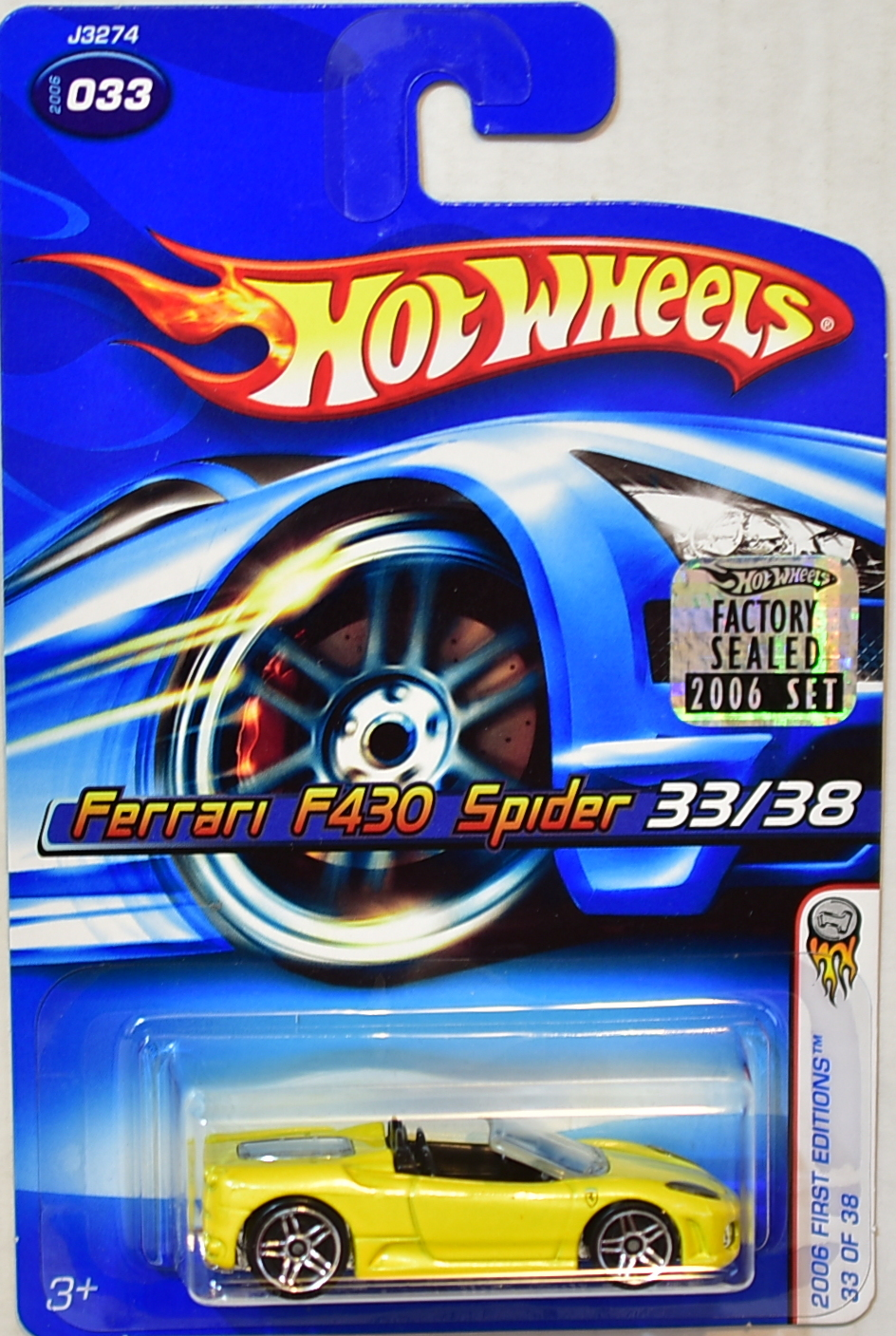 Hot Wheels 2006 First Editions Ferrari F430 Spider 033