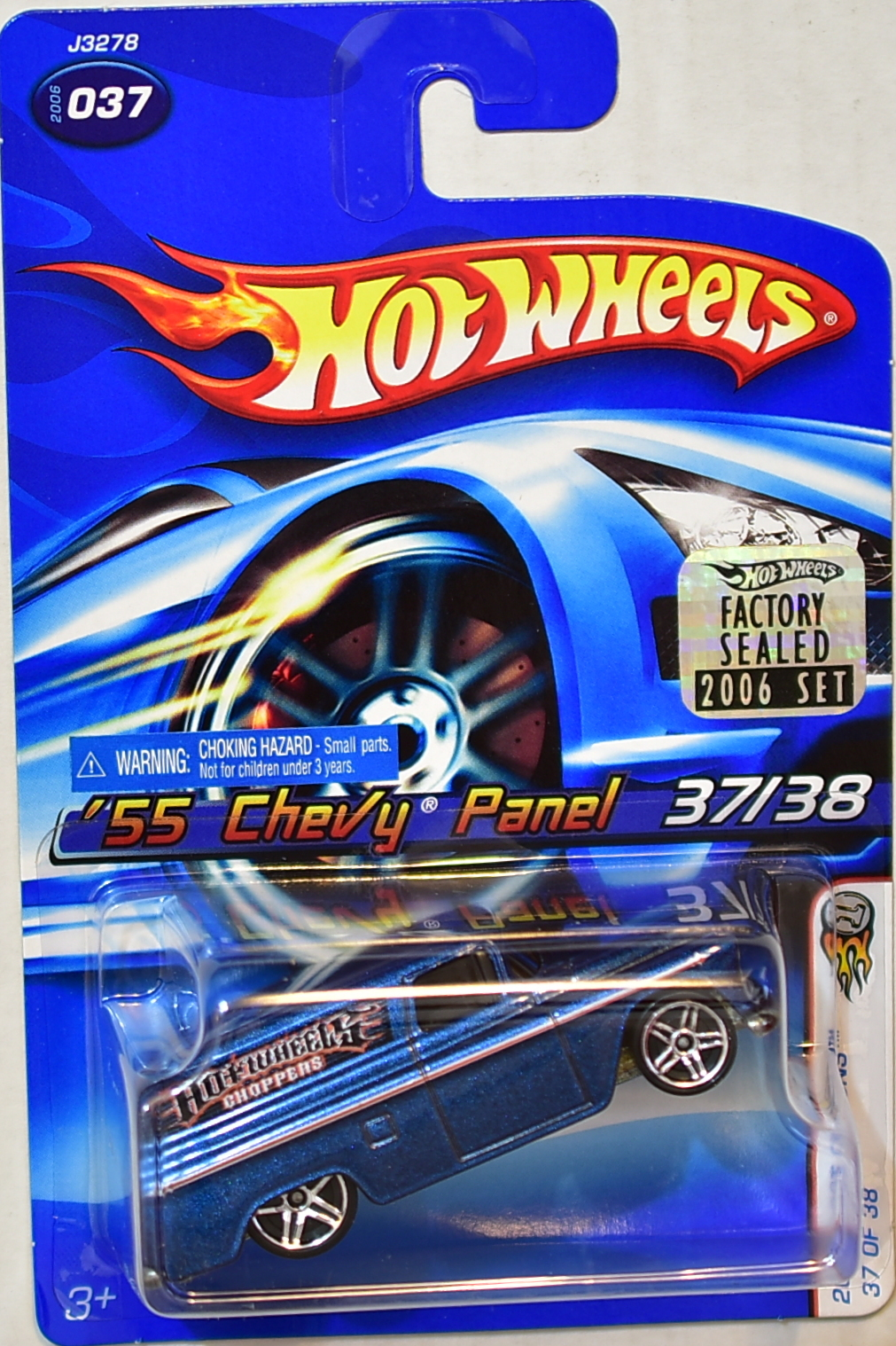 HOT WHEELS 2006 FIRST EDITIONS '55 CHEVY PANEL #037 BLUE FACTORY SEALED