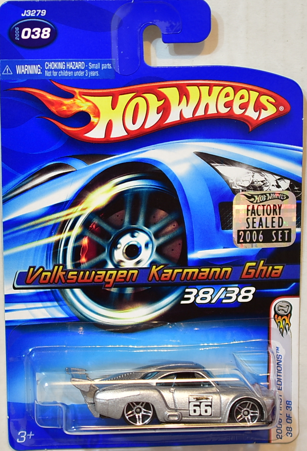 HOT WHEELS 2006 FIRST EDITIONS VOLKSWAGEN KARMANN GHIA #038 FACTORY SEALED