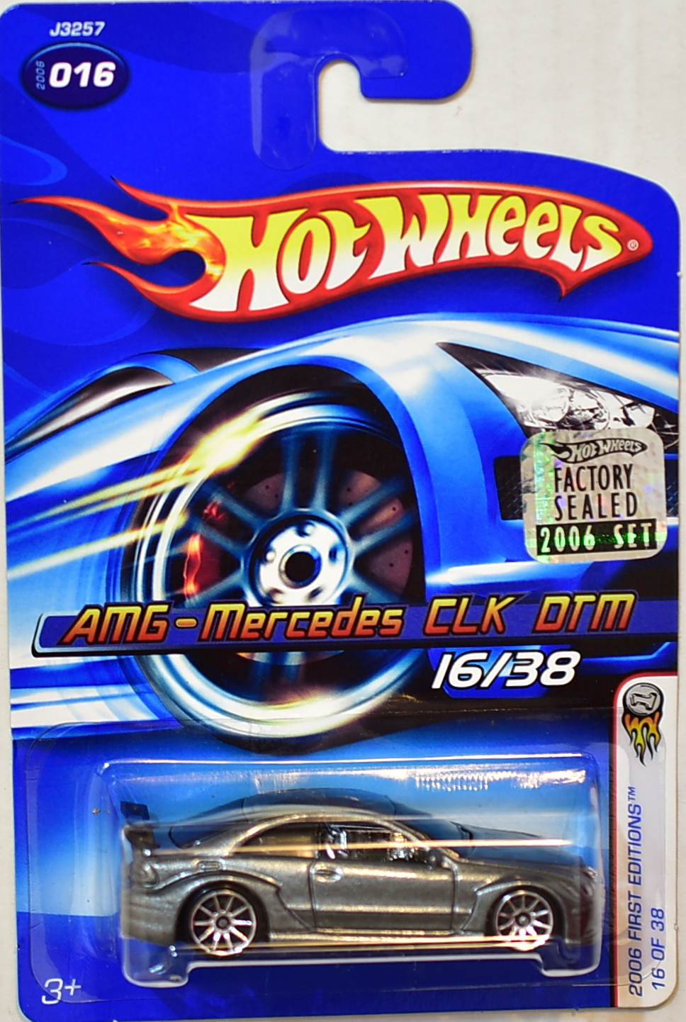 HOT WHEELS 2006 FIRST EDITIONS AMG-MERCEDES CLK DTM #016 FACTORY SEALED