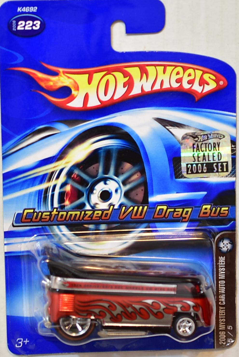 HOT WHEELS 2006 MYSTERY CAR CUSTOMIZED VW DRAG BUS #223 FACTORY SEALED