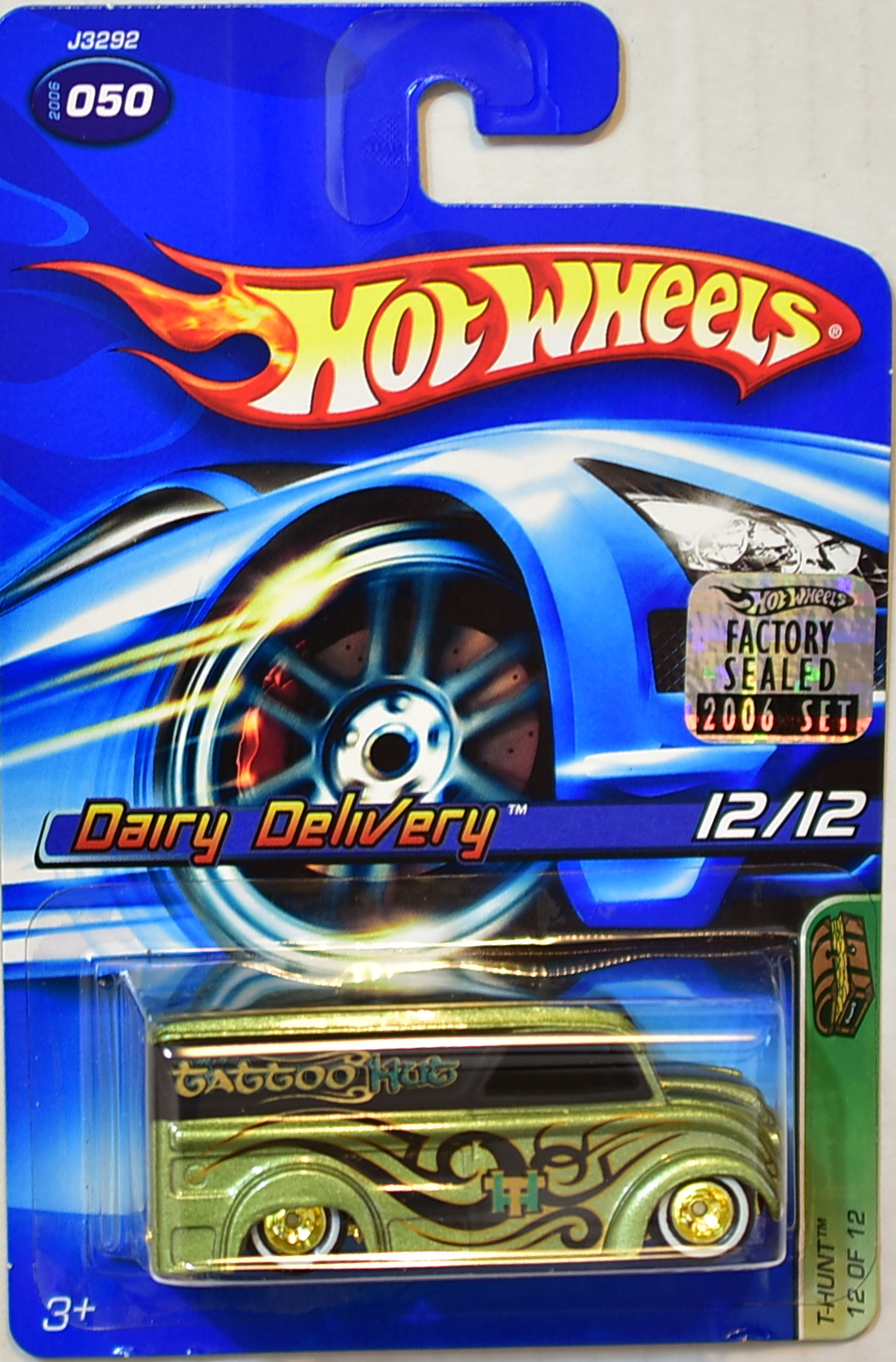 HOT WHEELS 2006 TREASURE HUNT DAIRY DELIVERY #050 FACTORY SEALED