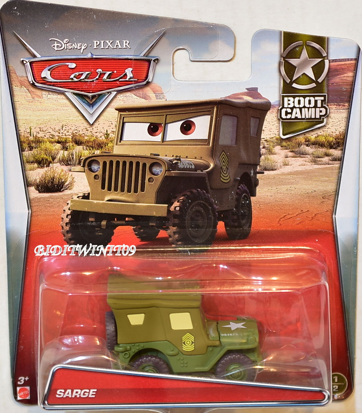 DISNEY PIXAR CARS 2017 BOOT CAMP SARGE