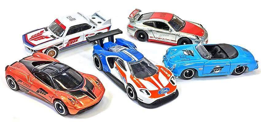 HOT WHEELS 2017 RETRO ENTERTAINMENT FORZA COMPLETE SET OF 5 (PRE-ORDER)