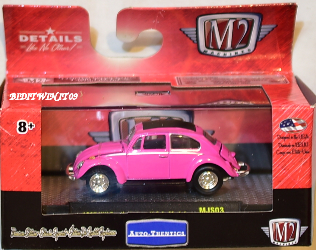 M2 MACHINES AUTO-THENTICS 1967 VW BEETLE DELUXE U.S.A MODEL MJS03 E+