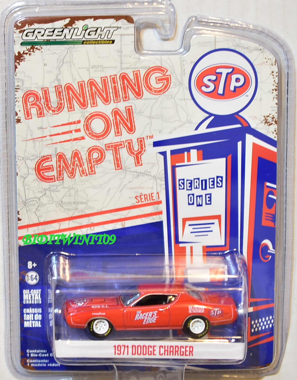 GREENLIGHT RUNNING ON EMPTY SERIES 1 1971 DODGE CHARGER RED STP