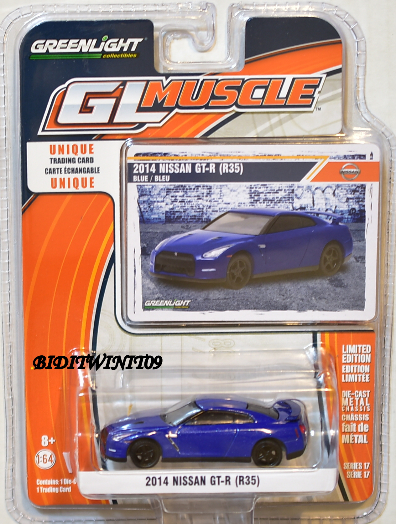 GREENLIGHT GLMUSCLE SERIES 17 2014 NISSAN GT-R (R35) BLUE