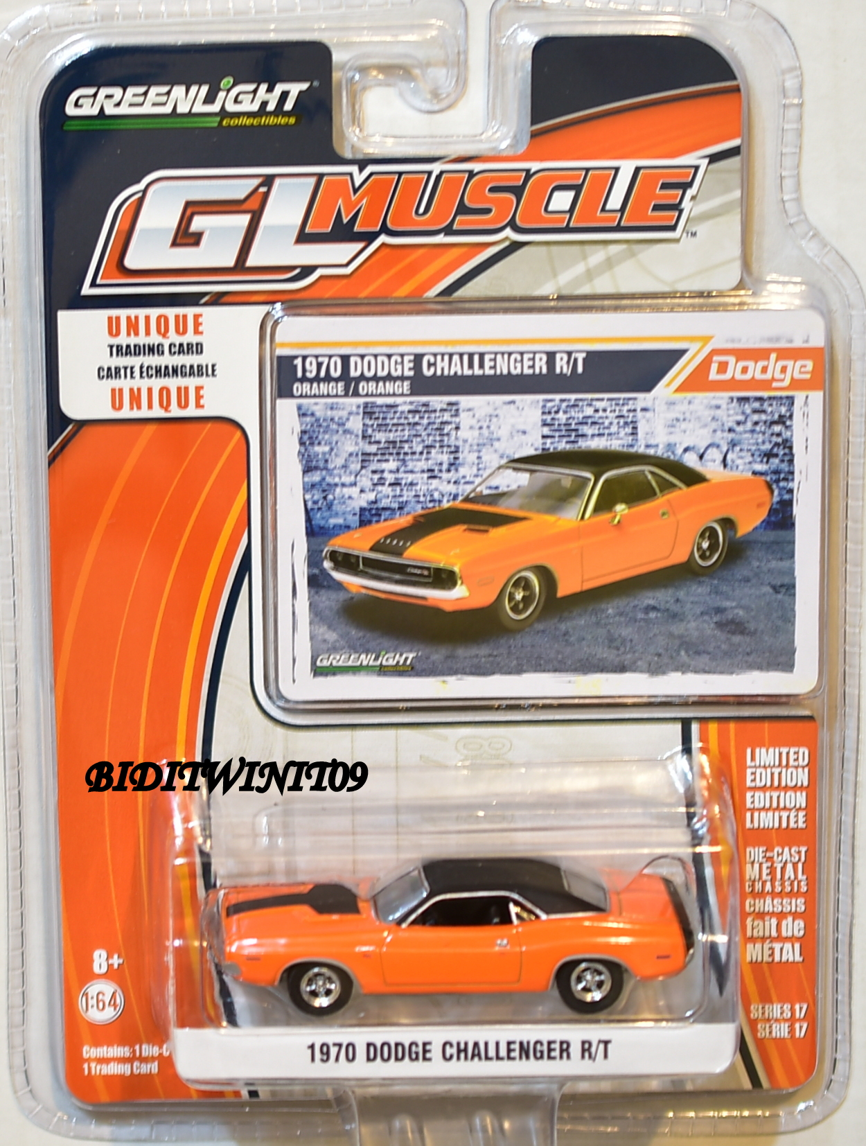 GREENLIGHT GLMUSCLE SERIES 17 1970 DODGE CHALLENGER R/T E+