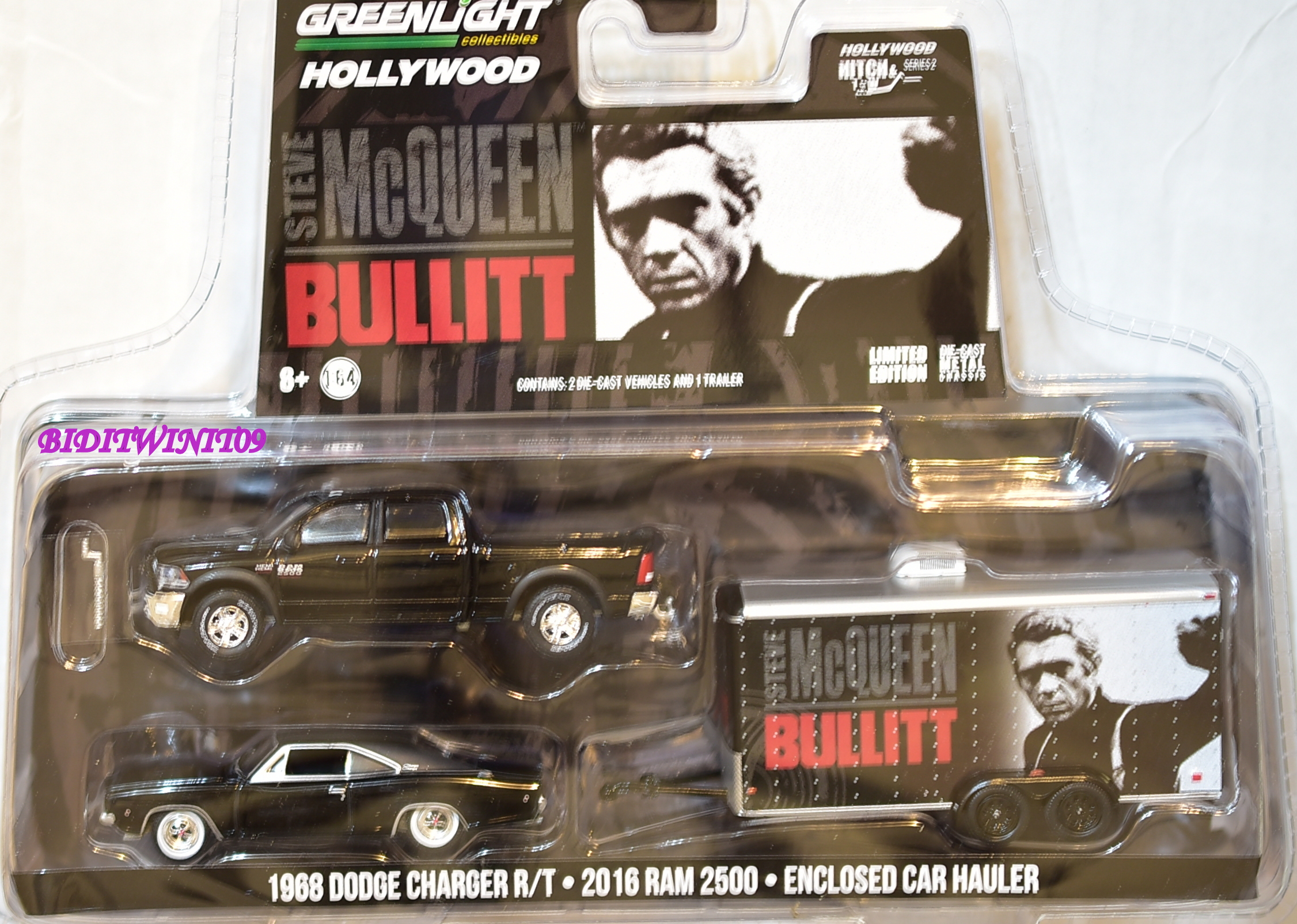 GREENLIGHT HITCH & TOW 1968 DODGE CHARGER R/T . 2016 RAM 2500 E+