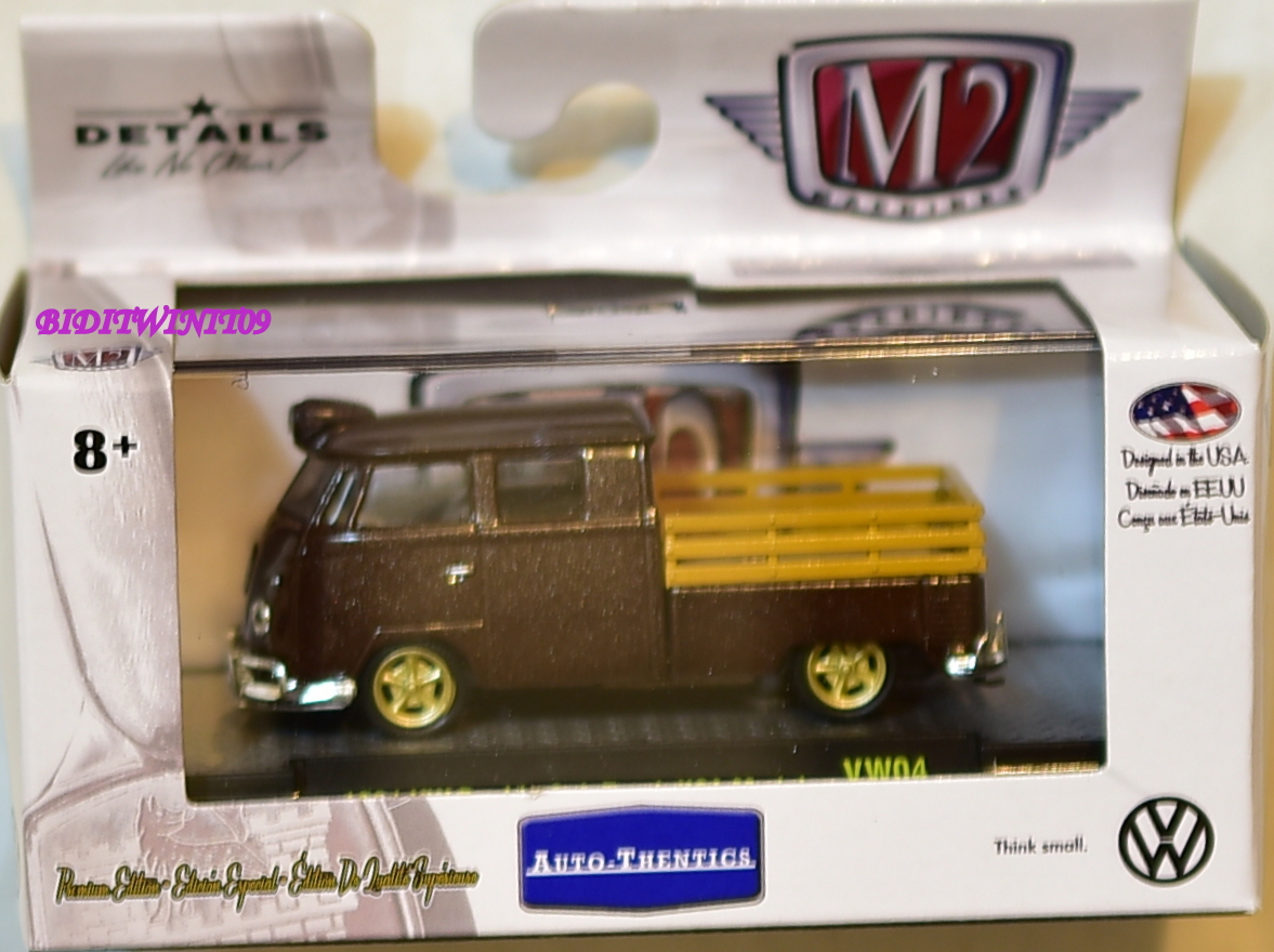 M2 MACHINES AUTO-THENTICS 1961 VW DOUBLE CAB TRUCK USA MODEL