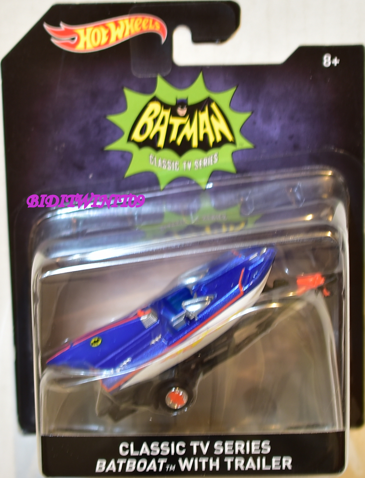HOT WHEELS 2016 CLASSIC TV SERIES BATBOAT WITH TRAILER SCALE 1:50