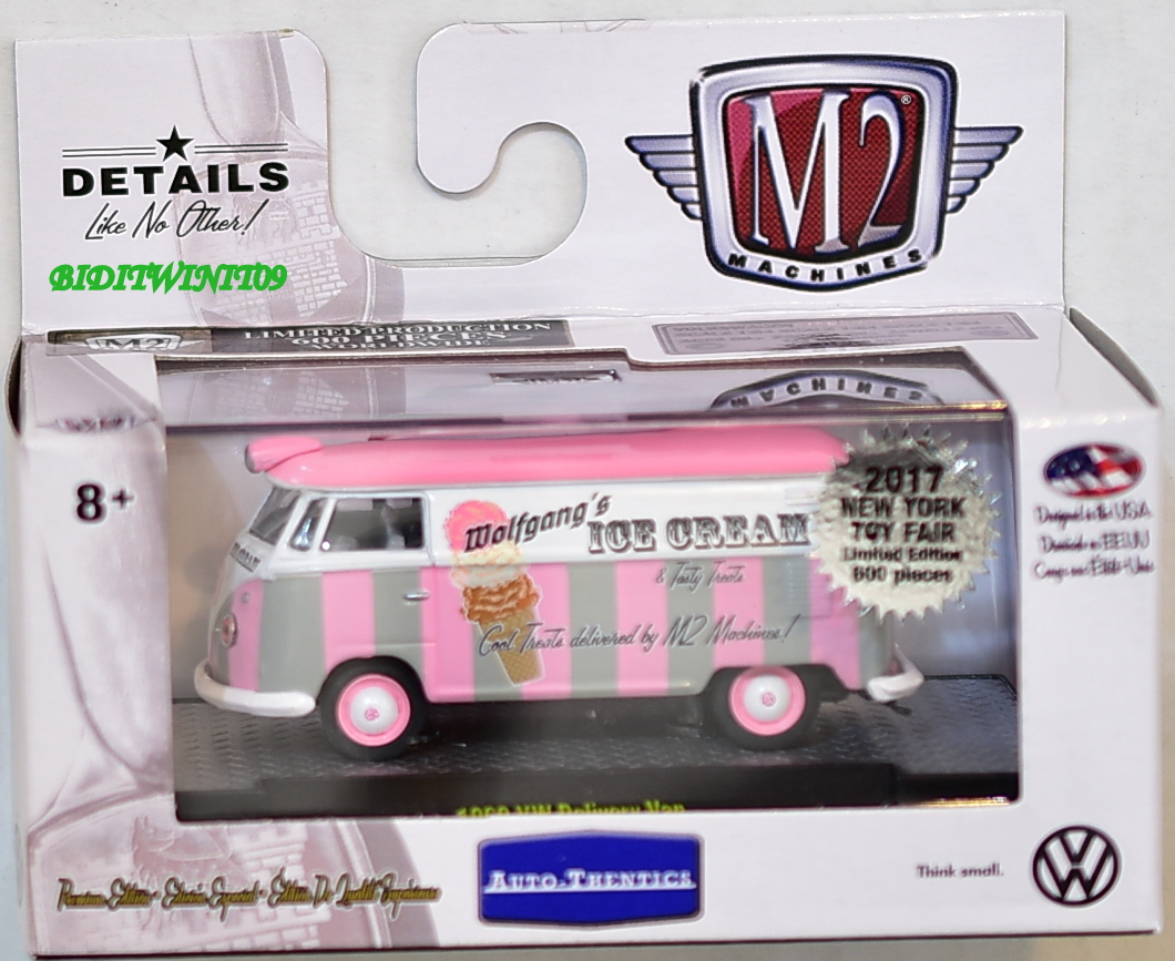 M2 MACHINES 2017 NEW YORK TOY FAIR 1960 VW DELIVERY VAN