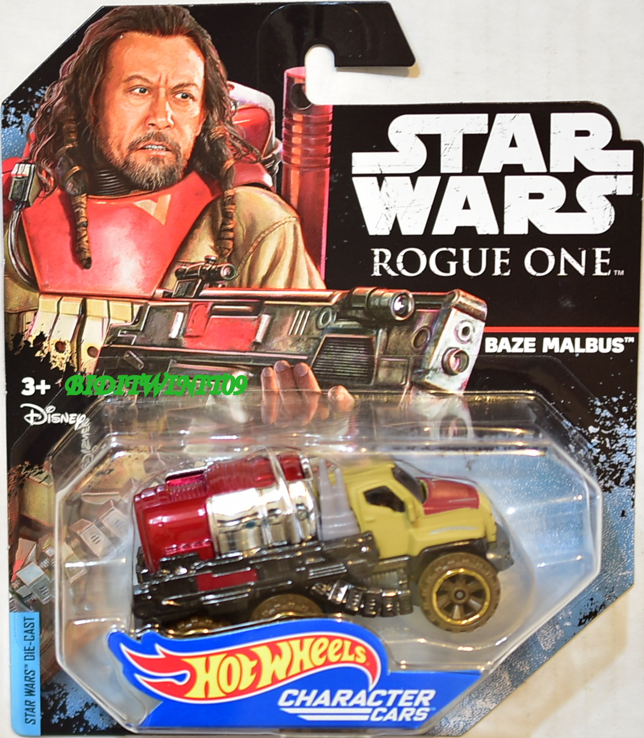 STAR WARS 2017 HOT WHEELS - ROGUE ONE BAZE MALBUS CHARACTER CARS