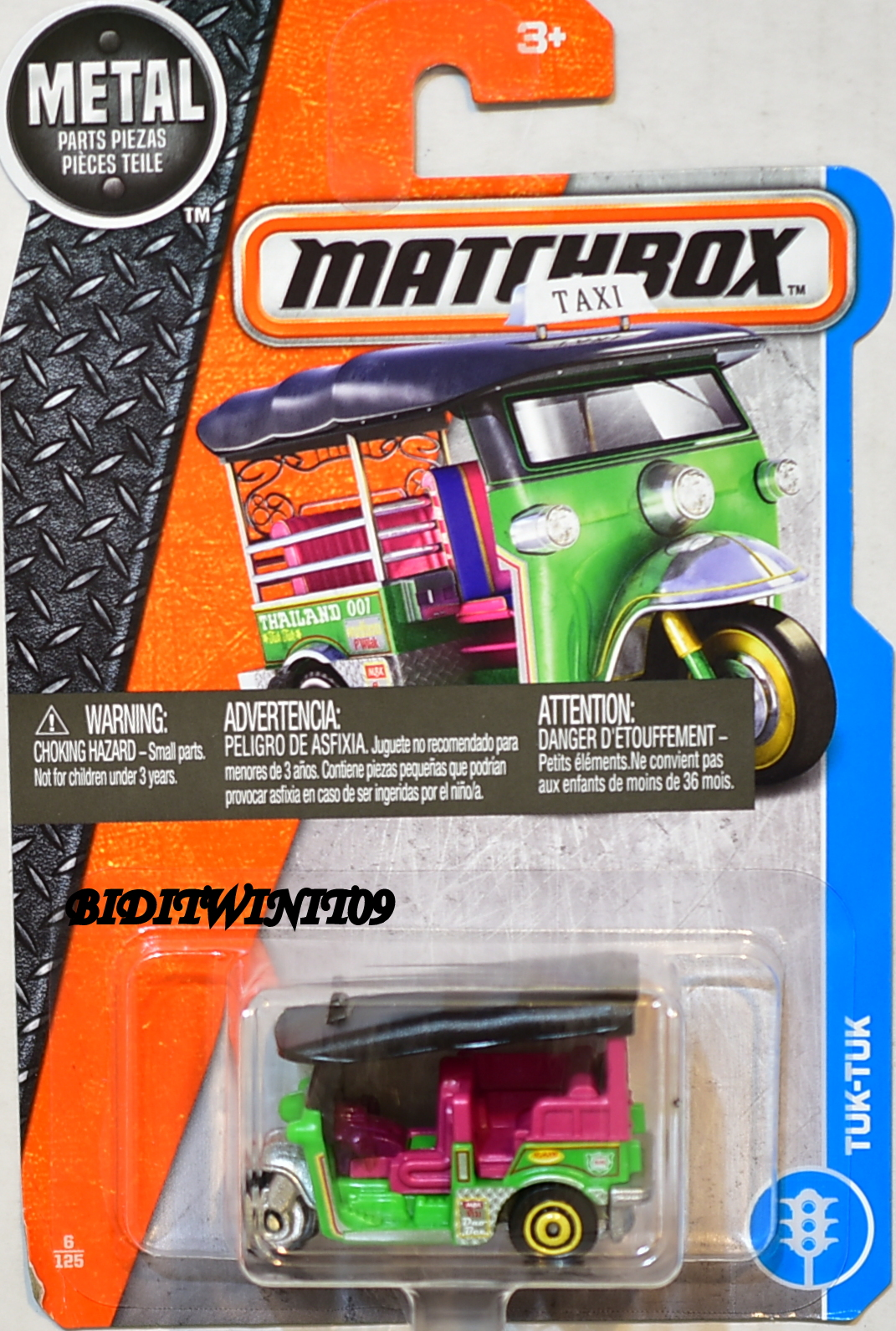 MATCHBOX 2017 METAL PARTS PIEZAS TUK-TUK
