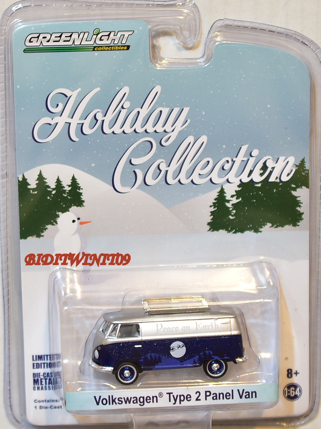 GREENLIGHT HOLIDAY COLLECTION VOLKSWAGEN TYPE 2 PANEL VAN