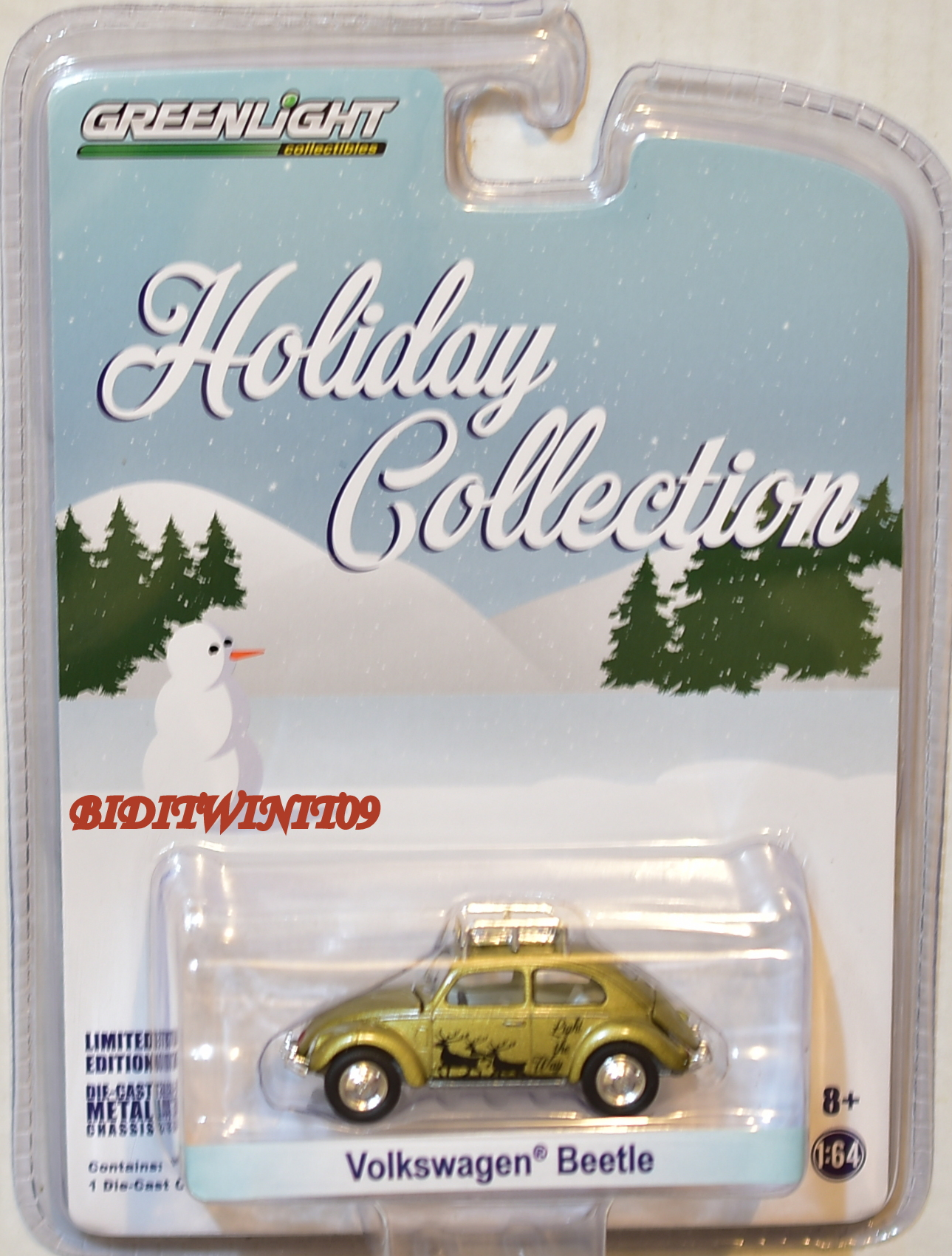GREENLIGHT HOLIDAY COLLECTION VOLKSWAGEN BEETLE GOLD