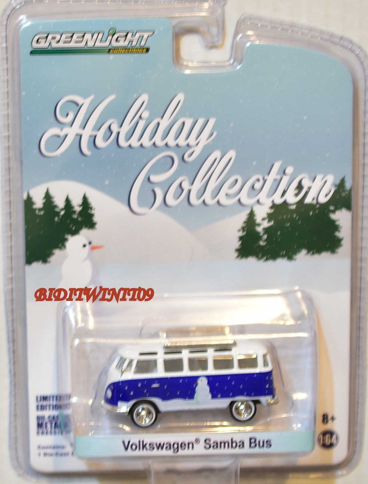 GREENLIGHT HOLIDAY COLLECTION VOLKSWAGEN SAMBA BUS WHITE