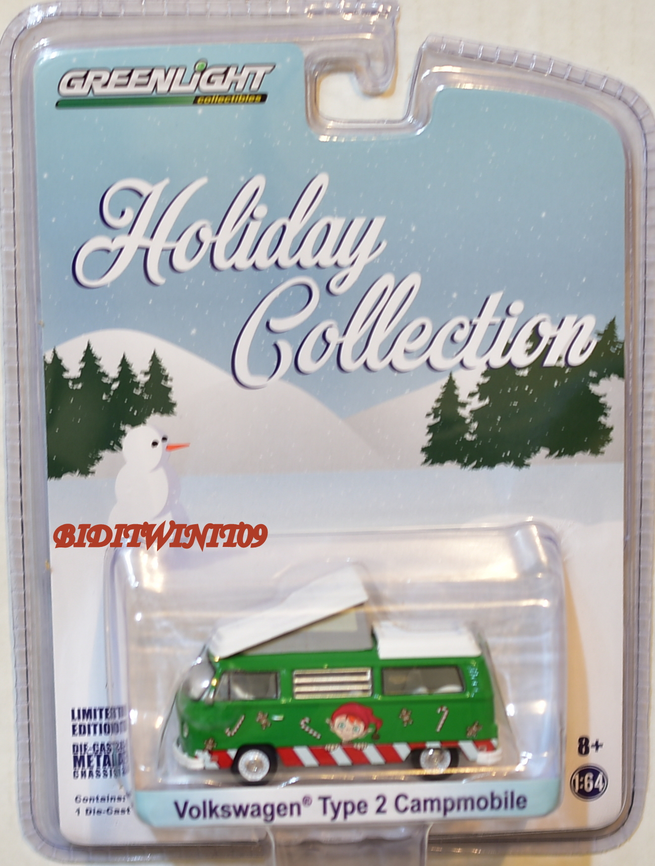 GREENLIGHT HOLIDAY COLLECTION VOLKSWAGEN TYPE 2 CAMPMOBILE