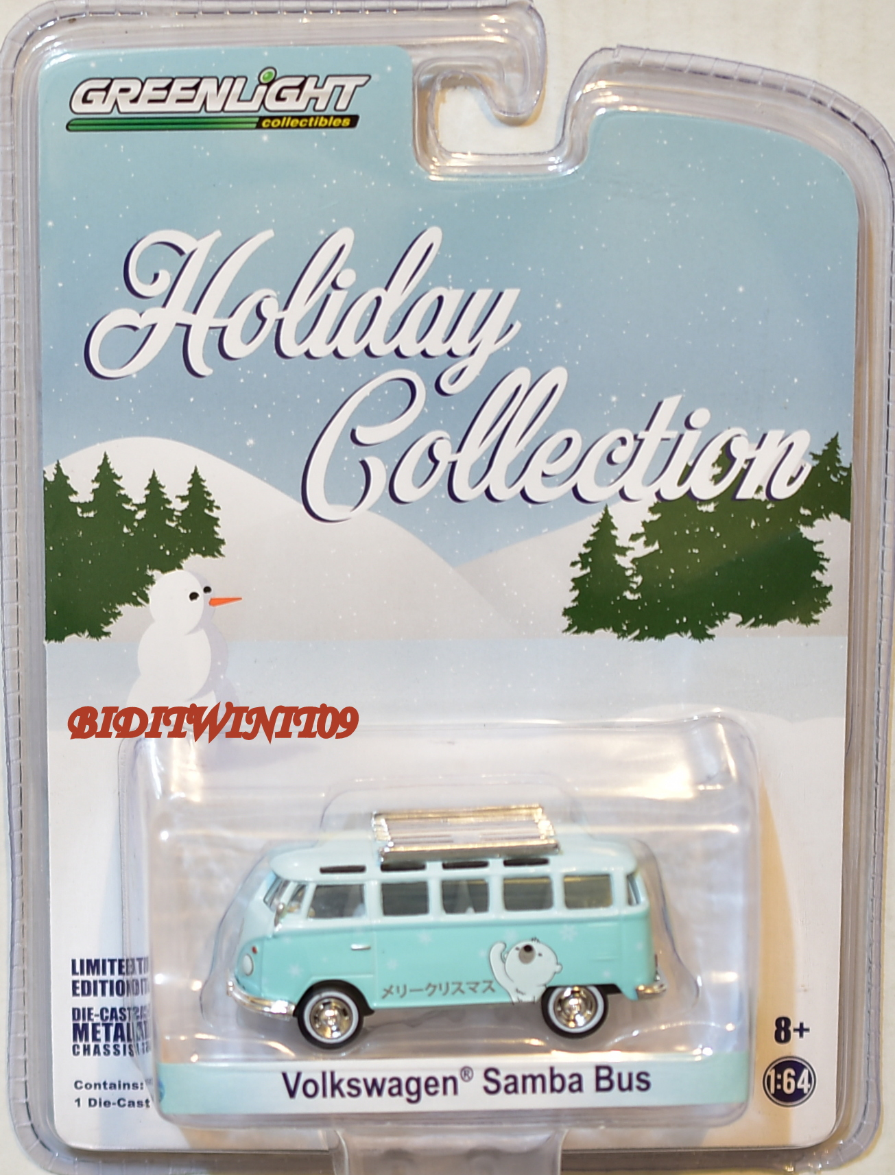 GREENLIGHT HOLIDAY COLLECTION VOLKSWAGEN SAMBA BUS