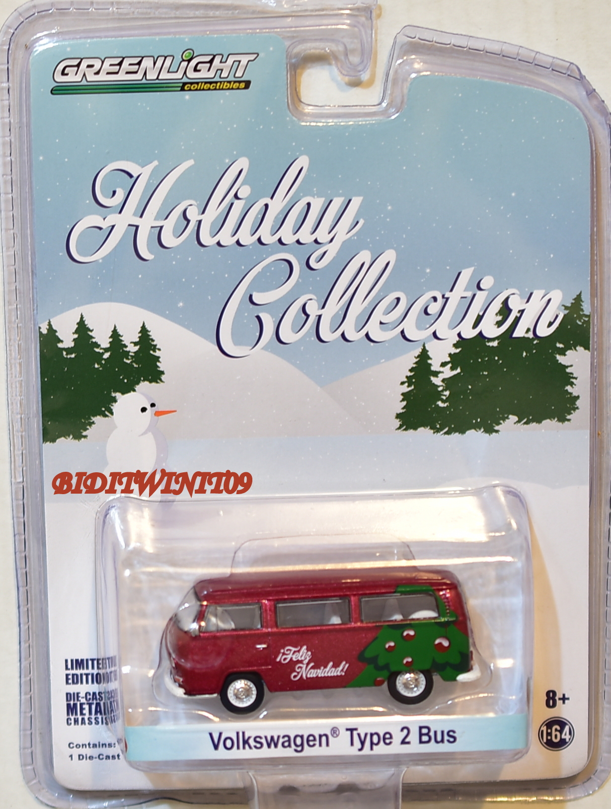 GREENLIGHT HOLIDAY COLLECTION VOLKSWAGEN TYPE 2 BUS