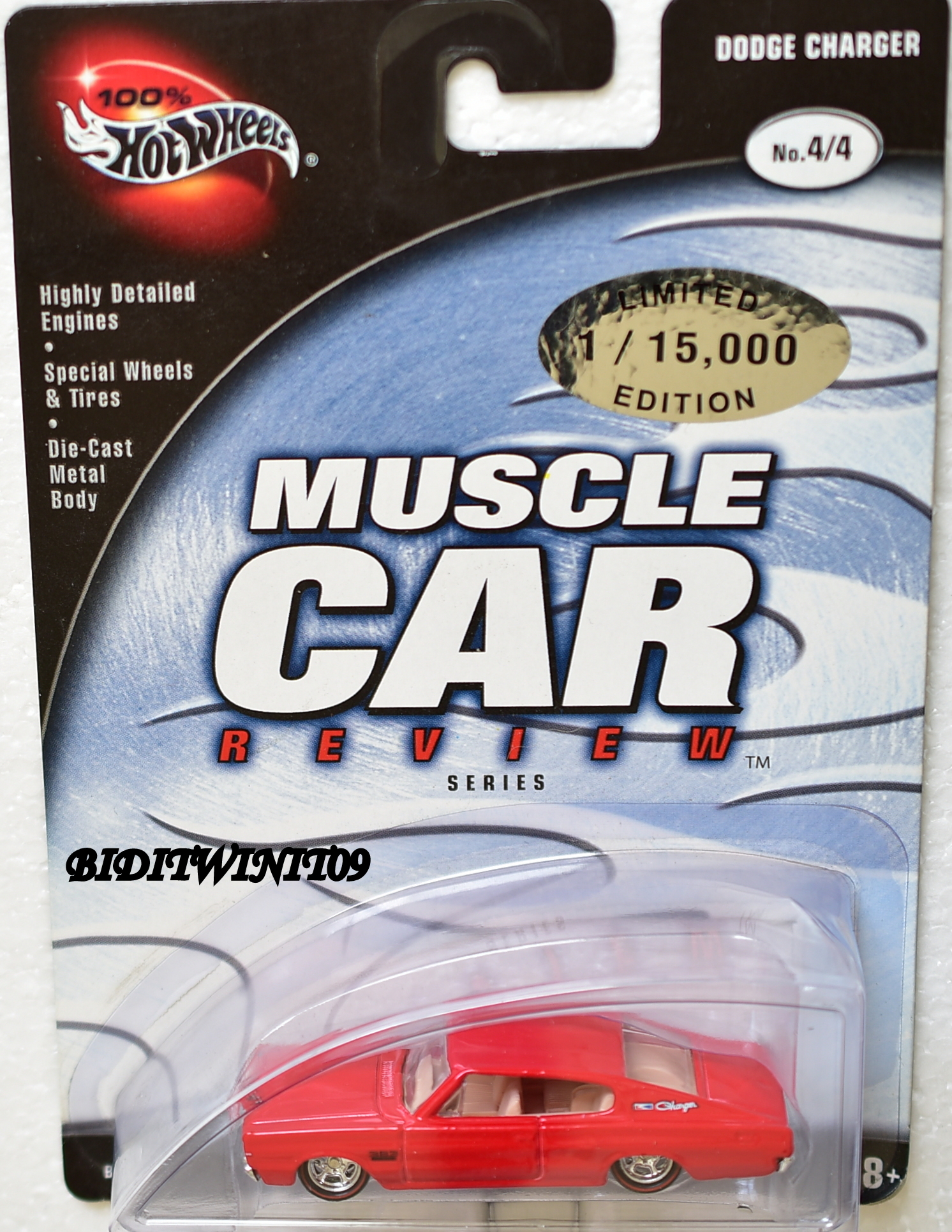 100% HOT WHEELS MUSCLE CAR REVIEW DODGE CHARGER #4/4