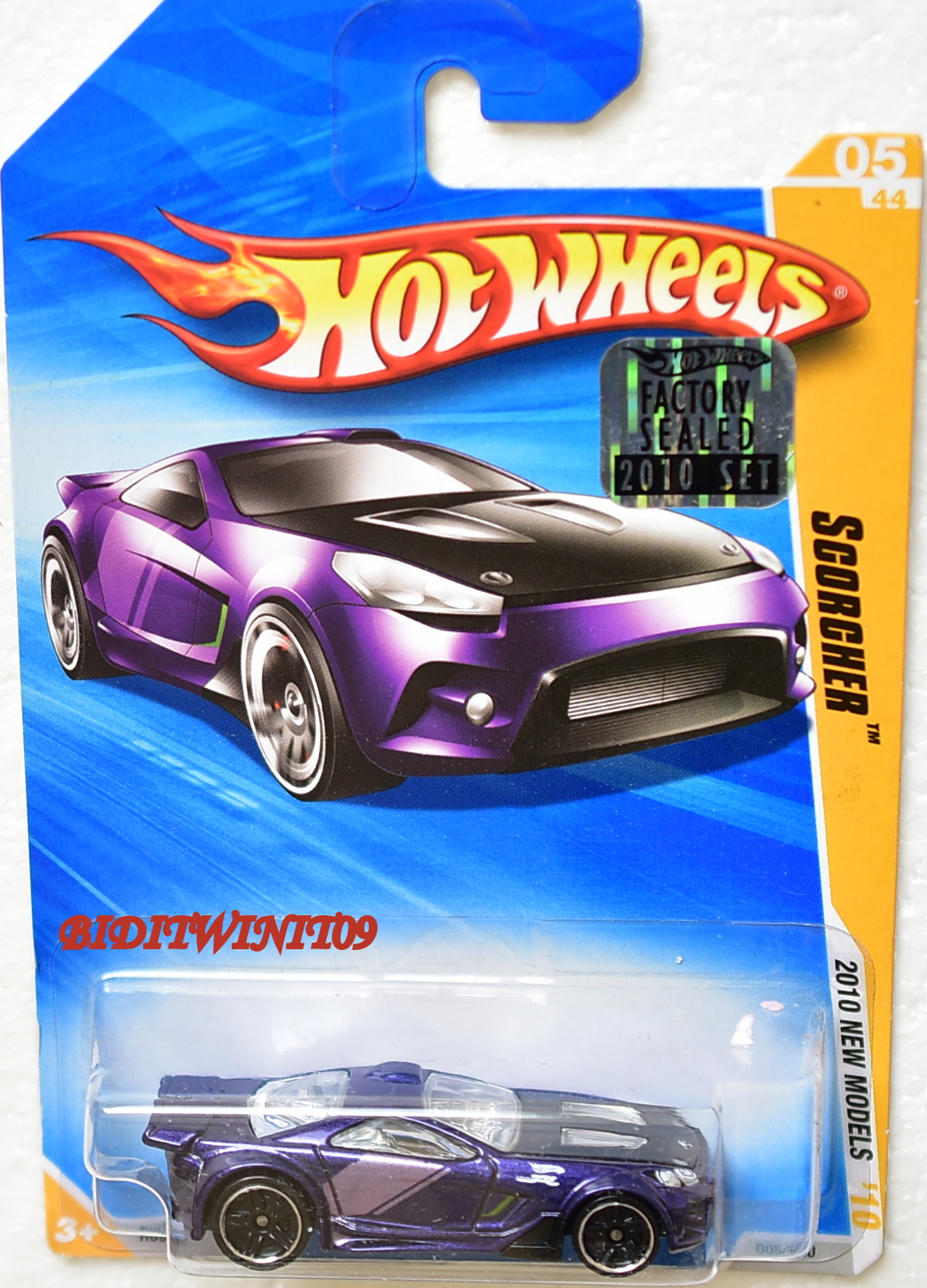 HOT WHEELS 2010 NEW MODELS SCORCHER #05/44 PURPLE FACTORY SEALED